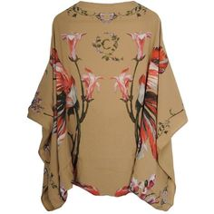 Alexander McQueen CAMEL TULIP CAPE ($915) ❤ liked on Polyvore