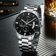 Men Watch Top Brand Men's Watch Fashion Watches Relogio Masculino Military Quartz Wrist Watches Hot Clock Male Sports NIBOSI-in Quartz Watches from Watches on AliExpress Cheap Watches For Men, Luxury Watches For Men, Affordable Watches, Casual Watches, Fancy Watches, Rolex Datejust, Watch Brands, Fashion Watches, Luxury Branding
