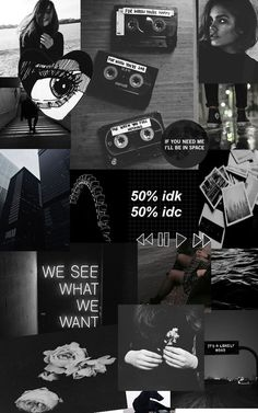 By:Gabi Constantino black :~aesthetic~: Tumblr Wallpaper, Dark Wallpaper Iphone, Mood Wallpaper, Iphone Wallpaper Tumblr Aesthetic, Retro Wallpaper, Aesthetic Backgrounds, Aesthetic Wallpapers, Galaxy Wallpaper, Black And White Wallpaper