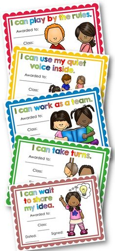 Classroom Manners and Expectations Posters and Awards