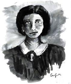 Honorine Hebe du Fraysse de Viane Morel #verne #b&w #portrait #woman #victorian
