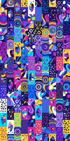 Graphic Design Pattern, Graphic Patterns, Pattern Art, Abstract Pattern, Free Wallpaper Backgrounds, Whatsapp Wallpaper, Wow Art, Design Graphique, Cellphone Wallpaper