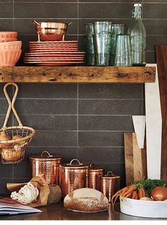 Open shelving-Anthropologie | 2016 Spring Home Lookbook | Inspired Hosting