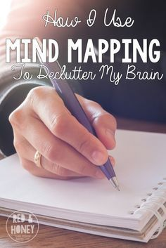 How I Use Mind Mapping to Help Declutter My Brain This is the power of mind mapping: plotting out a framework on which to hang your thoughts. Just like the power of tidying and decluttering your house, mind mapping feels incredibly satisfying and freeing. Mind Maps, Tips & Tricks, My Brain, Brain Dump, Planner Organization, Organizing, Self Development, Personal Development, Getting Organized