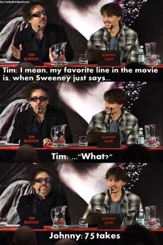 Tim Burton & Johnny Depp on Sweeney Todd