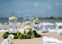 I like the floating candles Beach Dinner, Centerpieces, Table Decorations, Dream Wedding, Wedding Stuff, Wedding Ideas, Floating Candles, Coastal Style, Beach Themes