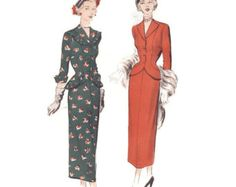 Vintage 1950s Sewing Pattern Dramatic Draped by FriskyScissors