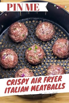 Homemade Air Fryer Meatballs in Tomato Sauce Recipe is low fat, and quick and easy to make. Takes less than 15 minutes to air fry 1 dozen meatballs. Air Fryer Recipes Low Carb, Air Fryer Dinner Recipes, Air Fryer Recipes Meatballs, Beef Recipes, Cooking Recipes, Cooking Food, Cooking Tips, Ninja Recipes, Sausage Recipes