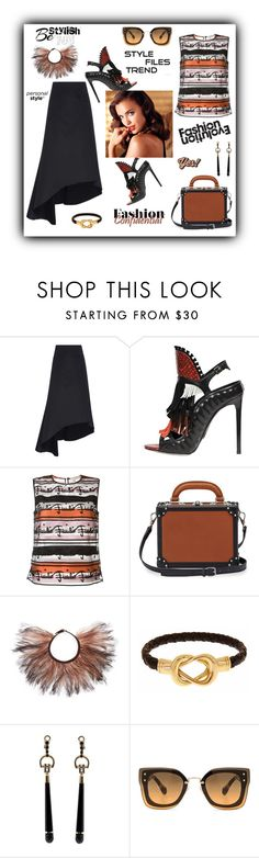 """""""Fashion confidential"""" by zabead ❤ liked on Polyvore featuring E L L E R Y, Daniele Michetti, Emilio Pucci, Bertoni, Avon, Valentino, Fornash, Gucci, Miu Miu and Anya Hindmarch"""