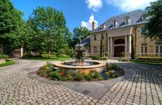 Fountains and water features in general give a house the wow factor. #CurbAppeal