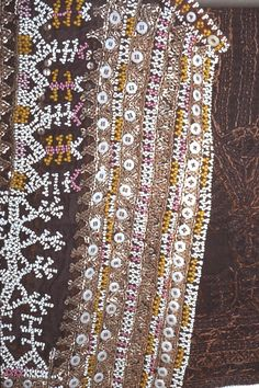 detail of 'LO-KOO' Philippines Culture, Culture Clothing, Fiji, Colonial, Textiles, Detail, Fabrics, Textile Art