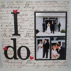 "Wedding page ""I Do"""