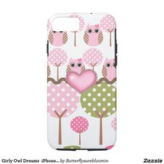 Girly Owl Dreams  iPhone 7 Case
