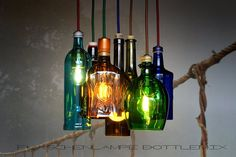 Flaschenlampe BottleMix von Lampenfieber auf DaWanda.com