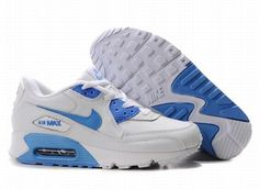 #Women #Nike Air Max 90  White-Blue  309298 107