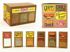 Spice packaging for Edna Lewis by Jordan Rundle