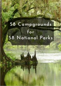 Here are 58 campgrounds you should consider as you aim to visit every national park our vast, gorgeous country has to offer. 58 Campgrounds for 58 National Parks www.active.com/...