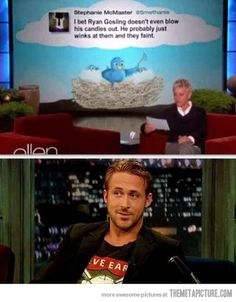 This made me laugh out loud. Haha Ryan gosling