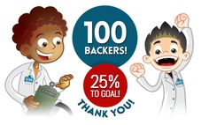 #Kickstarter Update! We hit 25%, more than 100 backers and Staff Pick! Support the #boardgame
