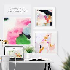 Jenny Abstract Fine Art Print  by Parima Studio #abstract #art