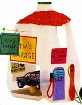 I like this milk jug garage because of all the toy cars around the house. this is one way for us to play with them more.