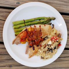 Pan Seared Tilapia with Balsamic Tomato Topping