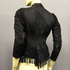 VICTORIAN JACKET WITH SEQUINS AND FRINGING