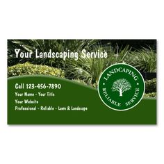 Landscaping business card vistaprint business card ideas landscaping business cards reheart Image collections