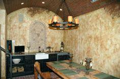 Lazenby's faux brick ceiling