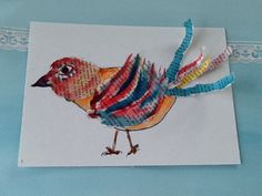 Rambling with me: CREATIONS AGAIN! Great inspiration for painted paper lesson