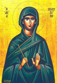 Polyxena September) Disciple of the Apostles, who died in Spain Orthodox Catholic, Orthodox Christianity, St P, Church Interior, Byzantine Icons, Orthodox Icons, Ikon, Saints, Image