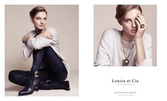 Patricia wears ankle boot and pendant necklace from Louise et Cie