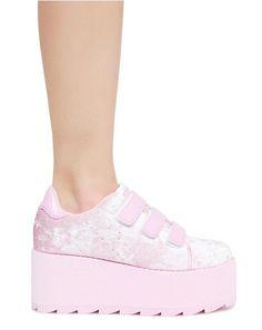 4eed957ee946 Candy Lala Velvet Platform Sneakers Platform High Heels
