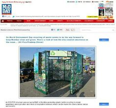 Creating #installation from #waste for a new form of #solar #advertising