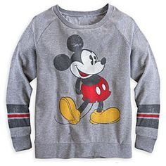 Disney Mickey Mouse Long Sleeve Raglan Tee for Women | Disney StoreMickey Mouse Long Sleeve Raglan Tee for Women - You'll play like an all-star in Mickey's soft, vintage-style athletic tee featuring long raglan sleeves, heathered fabric, and scoop neck.  Medium