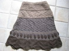 yarnsinthefarms' Yak Which do you Choose skirt - pattern by Jill Stover. A pretty, versatile skirt to knit using a variety of stitch motifs!