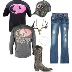 Mossy oak!!! Love the necklace!