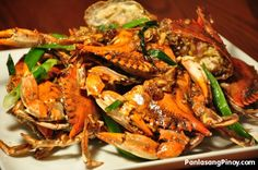 This is a delicious Asian Crab recipe! Apply to any crab variety and it'll only take a few minutes to prepare. Make a small but delicious change to your dining table. Stir Fried Crabs with Ginger and Scallions Asian Crab Recipe, Blue Crab Recipes, Best Seafood Recipes, Asian Recipes, Asian Foods, Shellfish Recipes, Jamaican Recipes, Chinese Recipes, Seafood Recipes