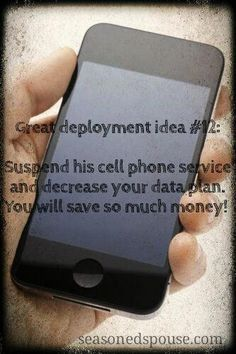 Save money on cell phone bills: Deployment Idea Will significant other need a cell phone during deployment? If not, there are options to cut your cell phone bill in half without penalty. Cell Phone Deals, Cell Phone Wallet, Best Cell Phone, Cell Phone Contract, Cell Phone Service, Cell Phones In School, Data Plan, Phone Plans, The Cell