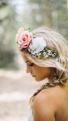 Fairy Hair, floral crown, wedding hair