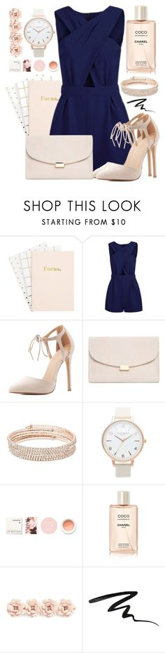 """""""#26"""" by oneandonlyfashion ❤ liked on Polyvore featuring Charlotte Russe, Mansur Gavriel, Anne Klein, Topshop, Korres, Chanel, J.Crew and Stila"""