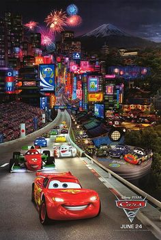 I have no idea why but just LOVE the movie Cars 2, the story line is more comprehensible for tweens too! just love.................... :)