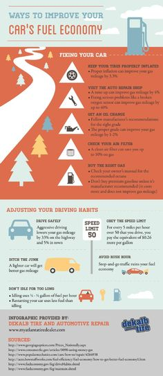 Idling a vehicle actually uses more fuel than restarting it! If you want to learn more, you can find tips and facts about improving your vehicle's fuel economy with automotive repair and maintenance by taking a look at this Buckhead infographic.