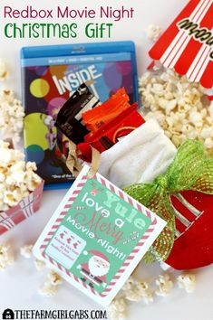 Give A Redbox Movie Night This Christmas. It's an easy gift will provide lots of family fun for the person on the receiving end.