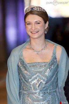 princesse héritière Stéphanie pour l'intronisation du roi et de la reine maxima des pays bas en 2013