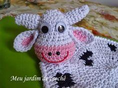 Pega panelas vaquinha em crochê - Meu jardim de crochê