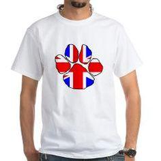 UK England flag paw T-Shirt > Border Collie > Paw Prints