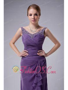 Custom Made Dark Purple Column Straps Mother Of The Bride Dress ...