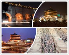 It is one of China's oldest cities, one of China historical capital cities and nowadays the capital of Shanxi Province. Which city do the four pictures below represent?