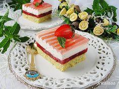 Ala piecze i gotuje: Ciasto truskawkowo śmietankowe